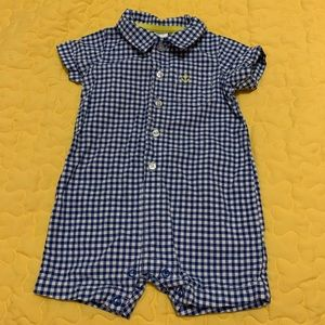 2/$15 Carter's Baby Boys Size 6 months romper